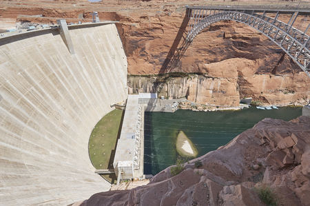 Hoover Dam State of Nevada 写真素材