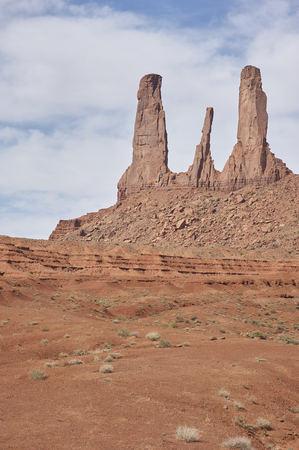 sandstone peaks in Monument Valley National Park