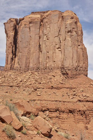sandstone peaks in Monument Valley National Park Stock Photo - 120353308