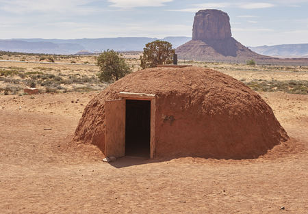Navajo dwelling in Monument Valley