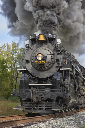 Cuyahoga Valley National Park. NE, Ohio. Steam Engine Train tour & display Editorial