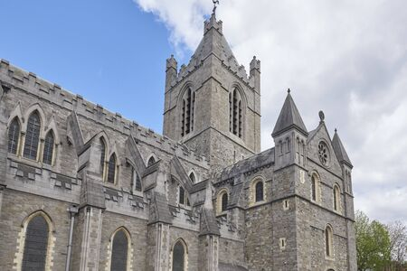 Ireland Trip (May 19-29, 2019) Dublin, Ireland.Christ Church Cathedral. Old standing building in Dublin. Exterior view