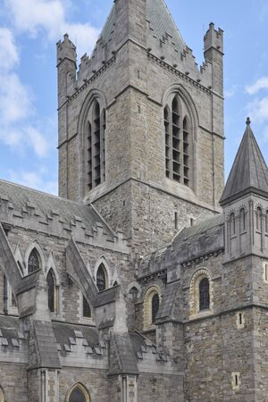 Ireland Trip (May 19-29, 2019) Dublin, Ireland.Christ Church Cathedral. Oldest standing building in Dublin 스톡 콘텐츠