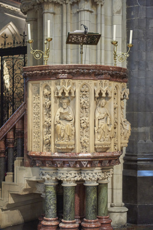 Ireland Trip (May 19-29, 2019) Dublin, Ireland.Christ Church Cathedral. Oldest  standing building in Dublin. Reading pulpit