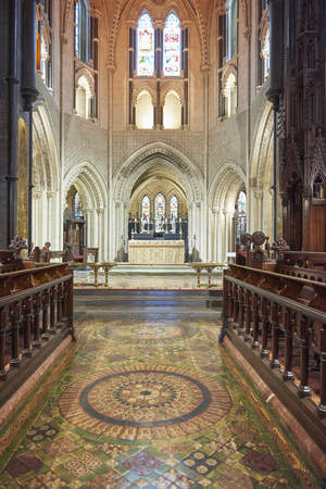Ireland Trip (May 19-29, 2019) Dublin, Ireland.Christ Church Cathedral. Old standing building in Dublin. Interior pulpit