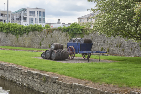 Ireland Trip (May 19-29, 2019) Jameson Distillery. Midleton, County cork, Ireland. Whiskey barrels on cart