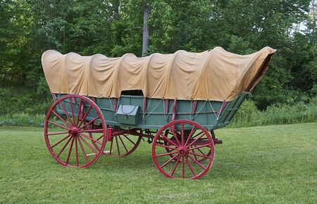 Conestoga wagon (covered wagon). Primary mode of transportation during 19th. century American western expansion