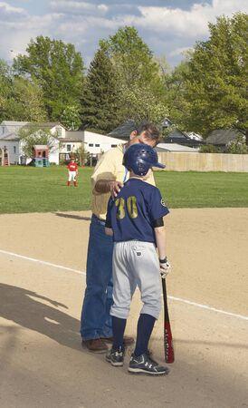 Gesu Catholic Middle School Baseball Game Stockfoto