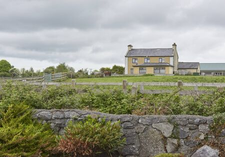Republic of Ireland Trip (May 19-29, 2019) house, landscape with horses in front lawn in Moycullen, Ireland