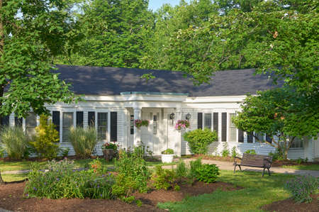 The Hiram House Administration building at Hiram house Camp. Moreland Hills, Ohio 44022 USA Editorial