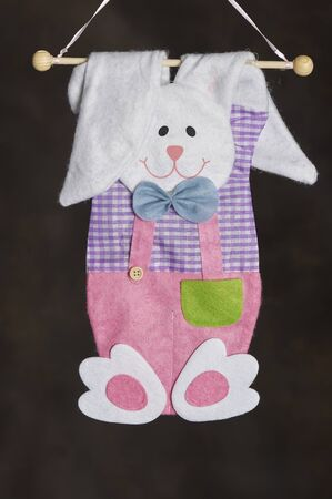Easter Holiday Season easter bunny decorations for doors and windows Stock Photo