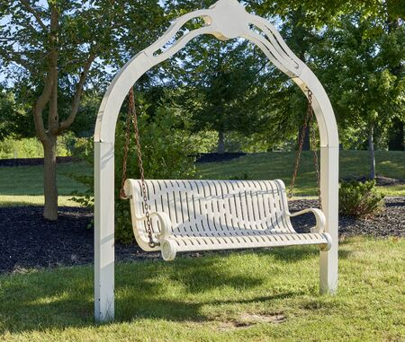Community Center hanging outdoor porch swing for citizen's