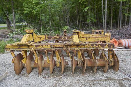 heavy duty construction plow at Hiram House Camp, Ohio USA Stock Photo