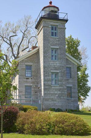 residential light house on Finger Lakes, New York USA
