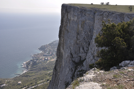 Foros in the Crimea on the mountain top Stock Photo