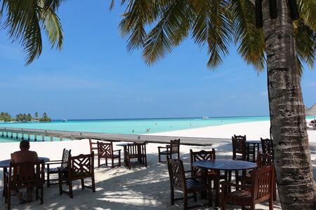 restaurant with sea view  Maldives photo