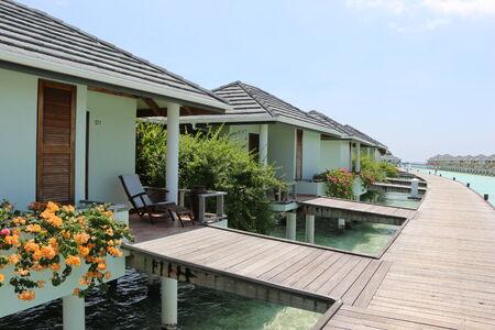 Water bungalow  Maldives  photo