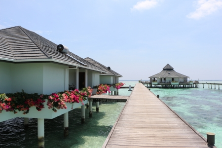 water bungalow on Maldives  photo