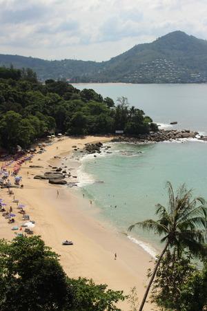 phuket province: Laem Singh Beach from view point, Surin,  Phuket Island, Thailand