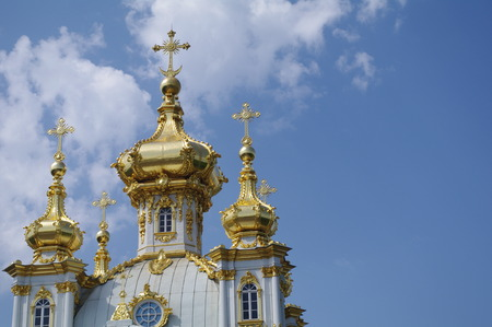 Church in  Peterhof Palace, St. Petersburg, Russia Editorial