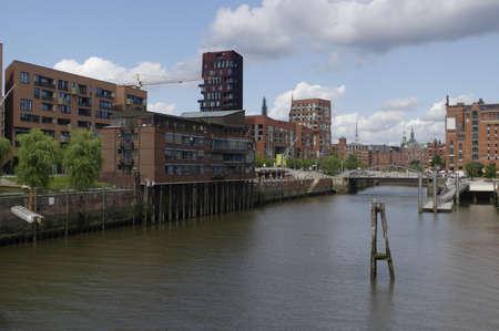thoroughfare: Hamburg, German city. Historic Speicherstadt district Editorial