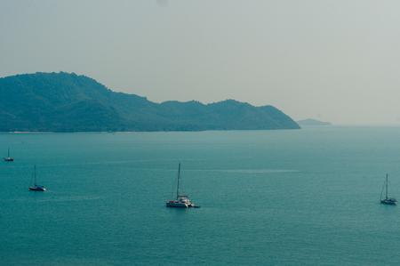View form the Andaman Sea at Krating Cape, Nai Harn Beach,Rawai,phuket,thailand