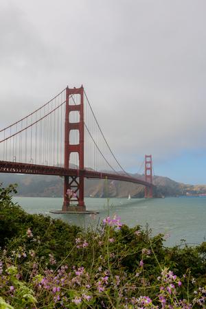 a sunny day at The Golden Gate Bridge in San Francisco, California