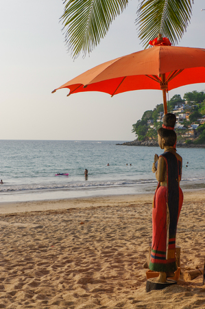 Sunny day at Kamala beach on Phuket