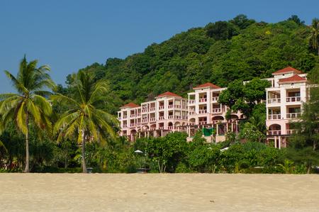 PHUKET, THAILAND - FEBRUARY 20, 2014: Centara Grand Beach Resort Phuket - view to the hotels park. Karon beach Editorial