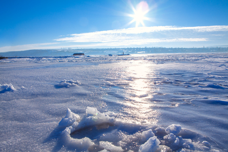 coldness: cold sunny  day Stock Photo