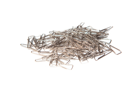 metalic: pile of metalic clips