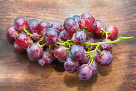 vinery: grape on the wooden table