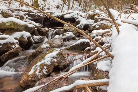 water stream: frozen water stream Stock Photo