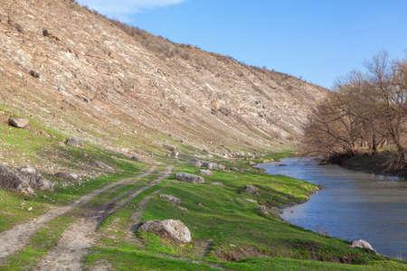 idyllic: idyllic landscape with river Stock Photo