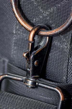 packsack: carabiner and belt Stock Photo