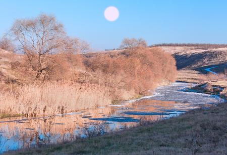 melting ice: melting ice of river