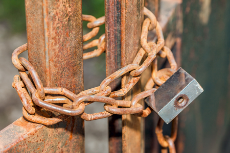catena: lock on a rusty chain