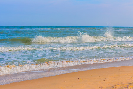 sunburned: summer sea waves Stock Photo
