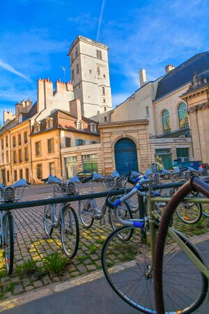 polis: bicycle parking in European city