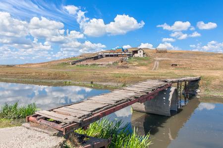 rural bridge over river