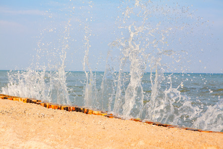 natureal: splashing sea waves Stock Photo