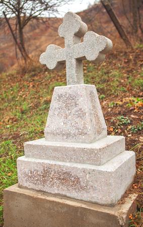 stonemason: white stone cross