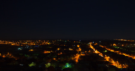 nightime: aerial view of night city Stock Photo
