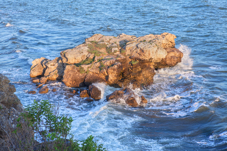 uninhabited: little island in blue sea
