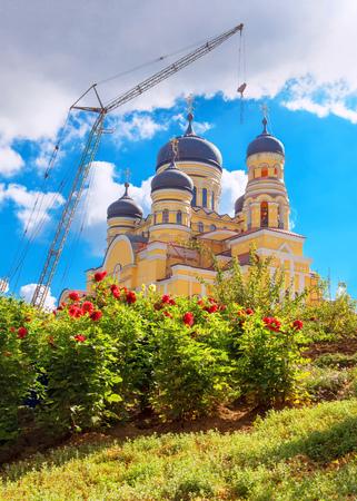 bible flower: Crane and church
