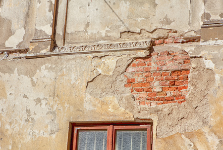 wall plaster wasted