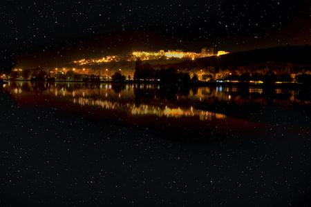 stars above city