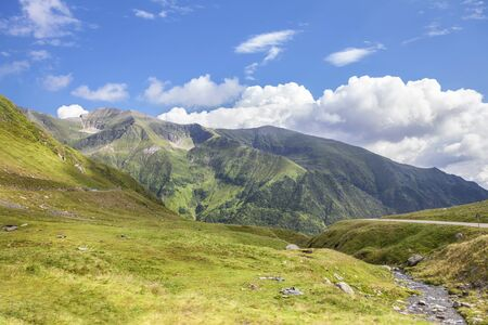idyllic green mountains