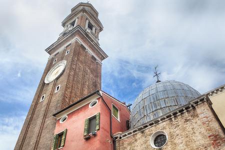 horologe: church Santi Apostoli in Venezia Stock Photo