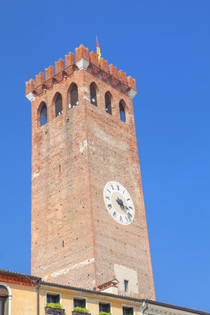tower with horologe Stock Photo